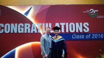 July - A happy university graduate!